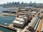 Overall view of the area and downtown Boston