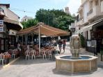 Pissouri's village square