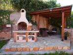 The new barbecue area - del bonfigli luxury apartment rental in Perugia