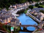 The superbly preserved historic town of Dinan is easily reached in just over 1 hour