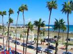 Finikoudes Promenade with restaurants just a 15 min walk away.