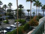 Sea views from the downstairs terrace