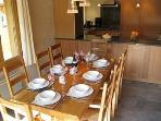 Chalet Coralie ~ Dining area perfect for entertaining up to 8 guests