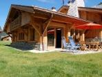 Chalet Coralie ~ Private terrace and garden great for summer BBQs