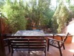 Terraza y jardín privado