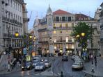 Chiado known for elegant bookshops, cafes, trendy restaurants, art noveau jewellery shops.3 min away