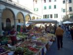 Saturday market in Pescia