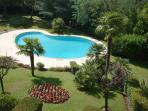 The communal gardens & swimming pool
