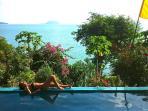 OceanFront Luxury Pool Villa, Sri Thanu, Ko Phangan AMAZING VIEWS, WALK to ocean, Yoga, Shops, Msage