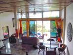 Pool LevelLiving Room All Marble, 4.5 meter ceilings, all-glass wall facing infinity pool/ ocean