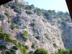 Mountain back drop to Villa