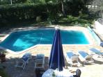 Arial view of pool