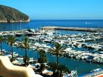 Enjoy a relaxing drink, snack or meal at beautiful Moraira Nautica!