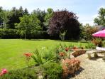 Enjoy the extensive gardens
