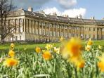 The Royal Crescent.  Copyright: Bath Tourism Plus / Colin Hawkins