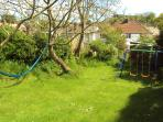 Play area with hammock
