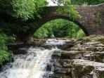 Packhorse Bridge by the Mill