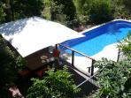 The BBQ deck overlooking the 12 metre pool. Ideal for lap swimming.