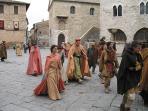 Bevagna Village - square -  'Mercato delle gaite' fest