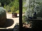 Looking from the patio, towards the garden