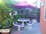 Front Yard Dining Area, Natural Gas BBQ