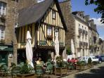 View of Dinan, historic centre