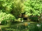 La rivière, l'indre est une rivière paisible, agréable à contempler.