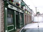 Flynns Bar 100m from your doorstep with beautiful antique displays