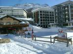 Condominium next to ice rink (building in the middle next to 'Lino's', 4th floor)
