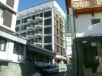 Street view of condominium