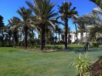 Just past the park to the left is the fabulous resort centre - bars, restaurants, supermarket & golf