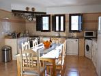 An open plan fully-equipped kitchen