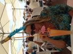 Fabulous inexpensive cuisine and impressive cocktails at beach bar, Cubanga Beach