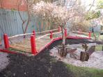 this properties japanese garden made from home grown bamboo.