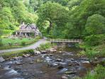 Lots of NT properties in easy reach, such as Watersmeet Tea Rooms
