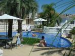 Shallow toddlers pool and shady poolside terrace