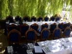 Weddings on the terrance at Le Couvent