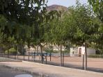 Mazarron Country Club tennis courts & petanque area