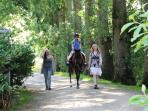 Initiation à  avec notre poney: Kiwi