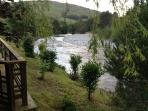 View from the decking down the river