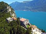 The church of Monte Castello, amazing view of the lake