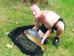 Carp caught from the Vezere river beside our property.450 m  of river frontage for private fishing