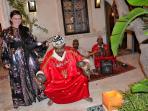 Gnawa dancers at Riad Oasissime