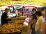 Paella at the market