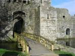 Beaumaris castle a few minutes drive form Llys Cadfan