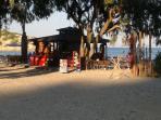 beach bar five mins walk  from apartment
