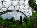 The Eden project only 10 mins drive away