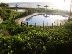 Swimming pool set in pleasant gardens