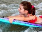 Kids love to try bodyboarding