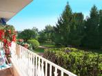 View from balcony-terrace south to the Mediterranean 400m away